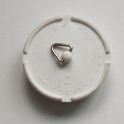 "2"" Large Belfast and Butler White Rubber Plug - 74000340"